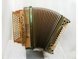Harmonika Schnitzkunst Nußbaum - Schaborak Alpenkönig Luxus