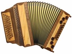 Harmonika Naturholz hell oder dunkel