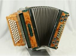 Harmonika Profi 4 WE Wurzelholz-Eibe