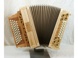 Harmonika Schnitzkunst 17 Bass Alpenkönig Luxus